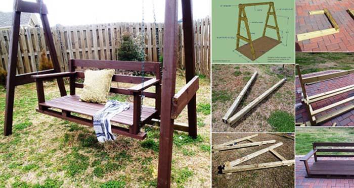 Terrassenschaukel selber bauen (Fotoanleitung)