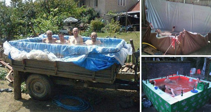 Verrückte Ideen für selbstgebaute Pools