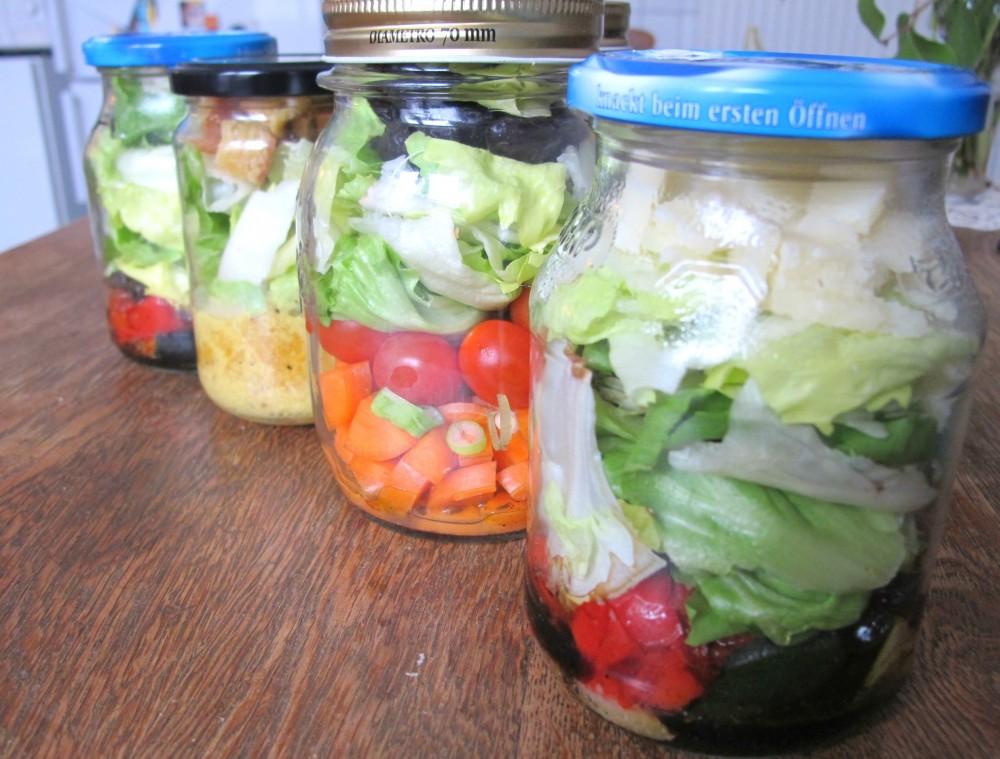 Wenns schnell gehen soll: Salat im Glas