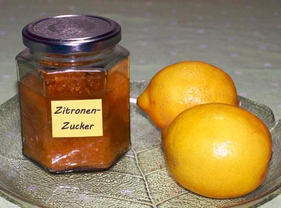 Zitronenzucker-Rezept