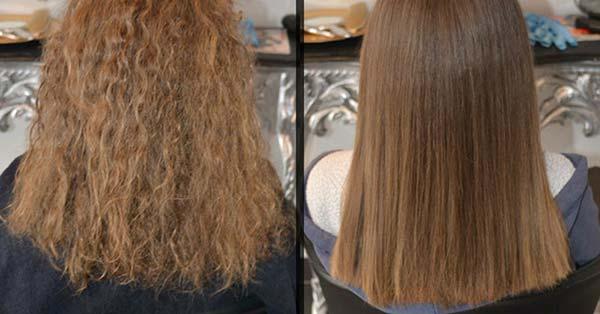 Der Trick zu natürlich glattem Haar