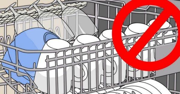 10 Dinge, die nicht spülmaschinenfest sind